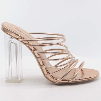Cape Robbin FIA Rose Gold Heels