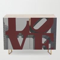 Love Philadelphia Sculpture Credenza by stine1