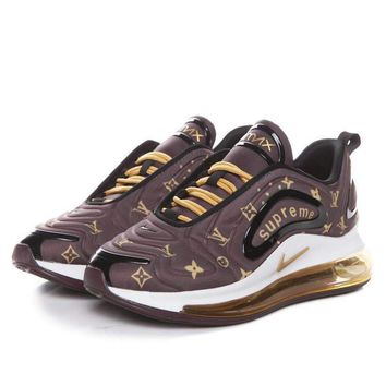 Supreme x Lv x Nike Air Max 720 Coffee Men Sneaker