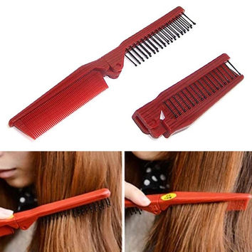 2017 Folding Combs Haircut Makeup Beauty Comb Pro Hair Style Combs Styling Tools Anti-static Hair Care Hairbrush