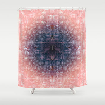 Crystal radial pattern Shower Curtain by VanessaGF