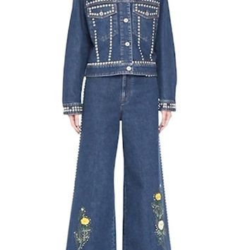 Stella McCartney Embellished Denim Jacket | Nordstrom