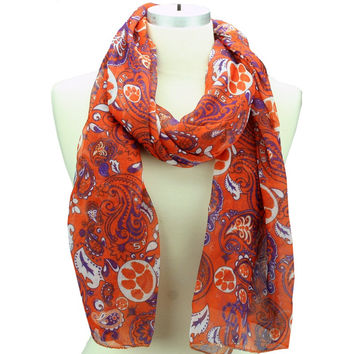 Clemson Tigers Paisley Scarf