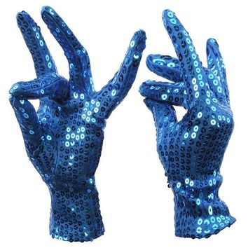 25*10cm Fancy Bright Sequin Gloves Party Club Cosplay Performance Glove Men Women In State Shining Handwear Sexy X30
