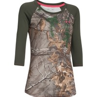 Under Armour Women's Tech Camo 3/4 Sleeve T-Shirt