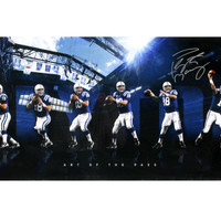 "PEYTON MANNING AUTOGRAPHED INDIANAPOLIS COLTS ART OF THE PASS"" 36X18 COLLAGE LIMITED TO 30"""
