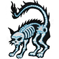 X-Ray Cat Iron On Patch