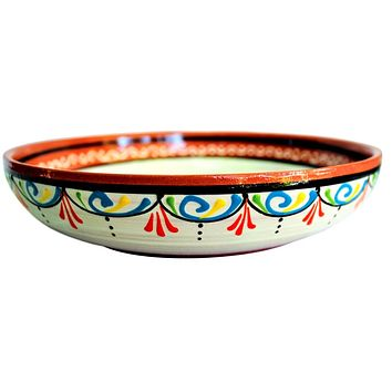 Terracotta White, Serving Dish - Hand Painted From Spain
