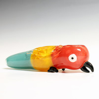 Glass Pipe - Paranoid Parrot -Hedcraft Glassworks-