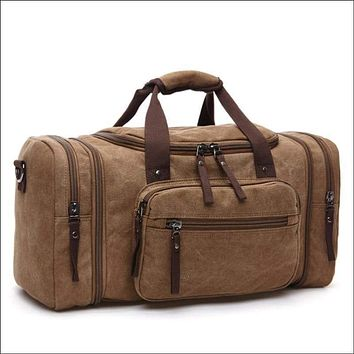 Multifunctional Leather Carry on Luggage Bag ✈️🚇🚃