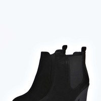 Olivia Suedette Elastic Insert Cleated Boot