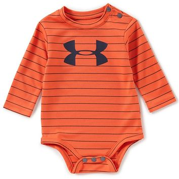 Under Armour Baby Boys Newborn-24 Months Big Logo Striped Bodysuit | Dillards