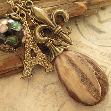 Old Paris a charm necklace by trinketsforkeeps on Etsy