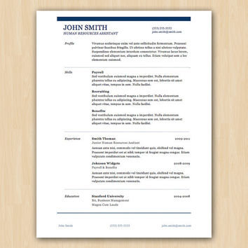 The Smith Design - Professional Resume Template - Instant Download - Word (Docx & Doc) - Compatible with Pages