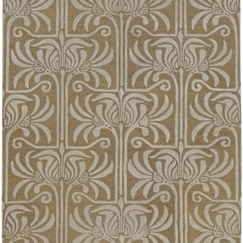 Natura Medallion and Damasks Area Rug Brown, Gray