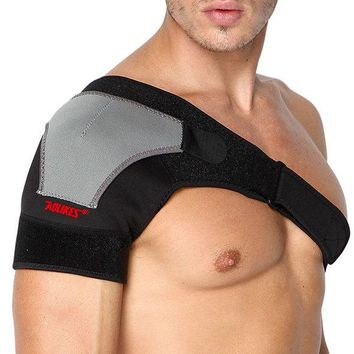 Mens Womens Adjustable Shoulder Brace Support Gym Fitness Safety Guard Compression Shoulder Pad
