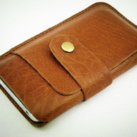 for iPhone 5 Leather Sleeve, Handstitch Phone Case, Phone Cover