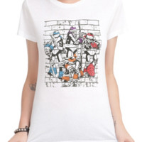 Teenage Mutant Ninja Turtles Brick Wall T-Shirt