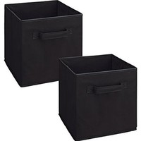 Sodynee SCB6BL Cloth Storage Cube Basket Bins Organizer, 6 Pack, Black