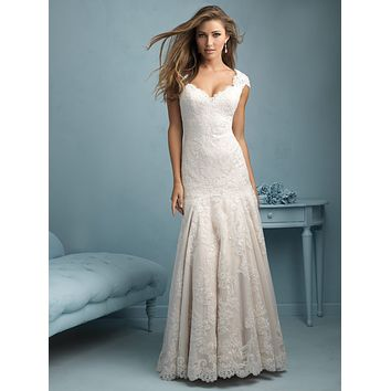 Allure Bridals 9208 Lace Fit and Flare Sample Sale Wedding Dress