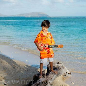 Aurora Orange Hawaiian Boy Shirt