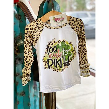 Too Cute To Pinch Kids Raglan