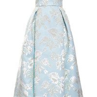 Bonded Duchesse Big Flowers Strapless Dress by Rochas - Moda Operandi
