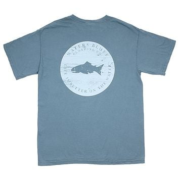 Hard Pressed OG Pocket Tee in Ocean by Waters Bluff