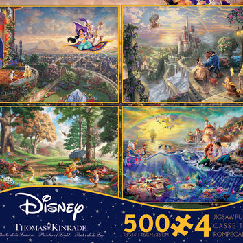 Ceaco Thomas Kinkade Disney Dreams Collection 3 - 4 in 1 Multipack