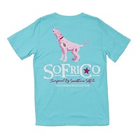 Howlin in Pink Tee in Robin's Egg by Southern Fried Cotton - FINAL SALE