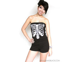 Ribcage Romper  MADE TO ORDER  xs s m l by lipglossandblack