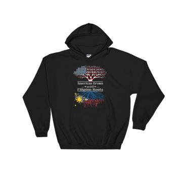 American Grown With Filipino Roots - Hooded Sweatshirt
