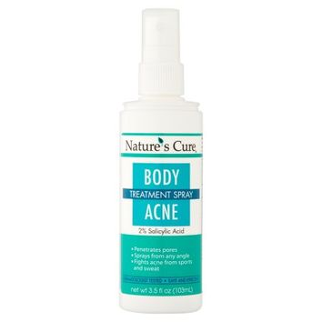 Nature's Cure Body Acne Treatment Spray, 3.5 fl oz - Walmart.com