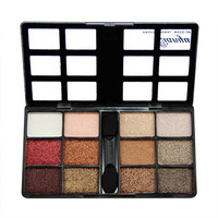 fashion eyeshadow palette 12 colors makeup eye shadow shimmer naked palette quality classic with eye pencil Free shipping