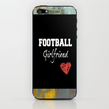 Football girlfriend iPhone & iPod Skin by TA DA 2