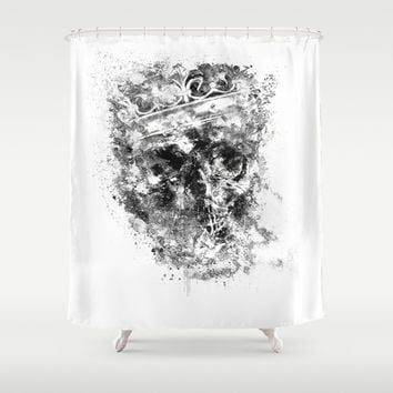 King Dusty - BW ED Shower Curtain by HappyMelvin Protanopia