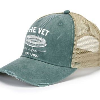 The Vet Retro Distressed Mesh Back Hat
