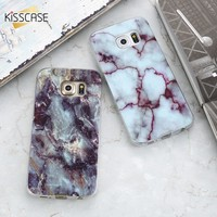KISSCASE Phone Case For Samsung Galaxy S8 S8 Plus Fashion Marble Pattern Case For Samsung Galaxy S7 Edge S7 S6 S6 Edge S5 Cases