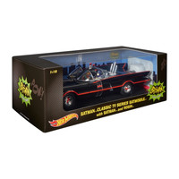 Batmobile with Batman & Robin Batman Classic TV Series Hot Wheels Vehicle