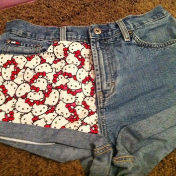 Hipster Vintage High waisted Shorts in Hello Kitty by HipsterMegs