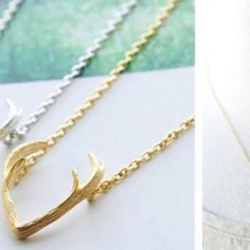 Antler Pendant Necklace