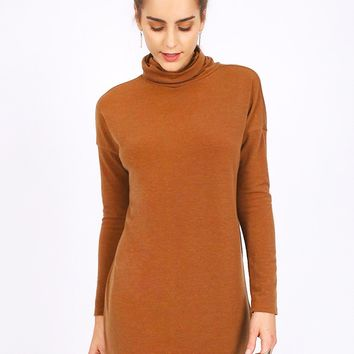 City Sidewalks Turtleneck Dress