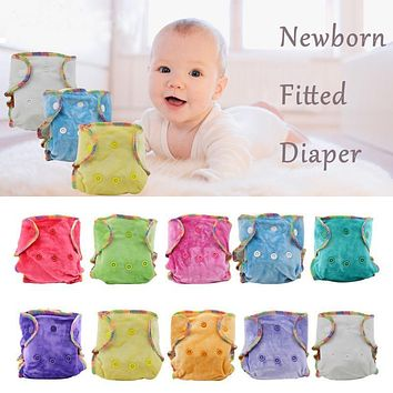 Super Velour Modern Cloth Diapers Reusable Cloth Diapers Baby Newborn Diaper for Weight 2KG to 5KG