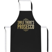 Smile Theres Prosecco GOLD Drink Party Gift Mothers Day Cook APRON Tabard A35 | eBay