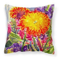 Flower - Aster   Canvas Fabric Decorative Pillow