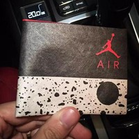 Jordan Men Leather Purse Wallet
