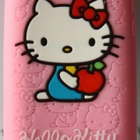 Koolshop Hello Kitty Pink Silicone Full Cover Case for iPod Touch iTouch 4 4g 4th generation