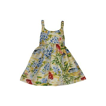 Koi Yellow Girl's Hawaiian Sundress