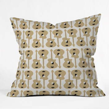 Allyson Johnson Guitar Pattern Throw Pillow