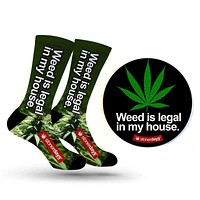 WEED IS LEGAL DAB MAT + SOCK COMBO